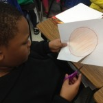 Some students addded various colors to their sun.
