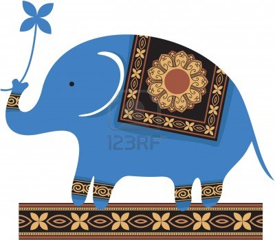12123484 Cute Blue Elephant