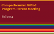 Thorp Parent Night: Gifted Program Meeting