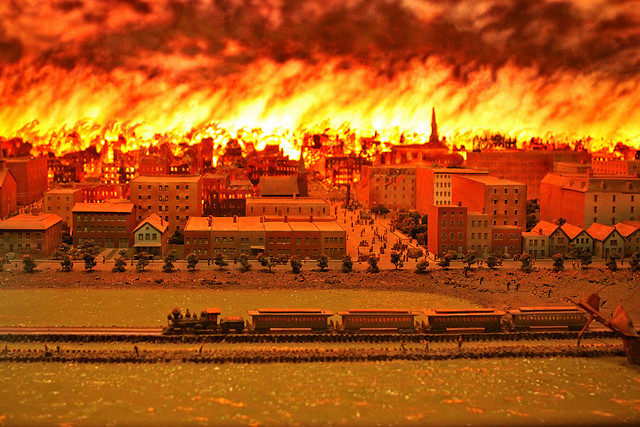 the events of the great chicago fire Title the great chicago fire (essential events series) author l l owens year 2008 length 9 chapters text is pages 6-94 = 88 pages about 10 of those pages are full.