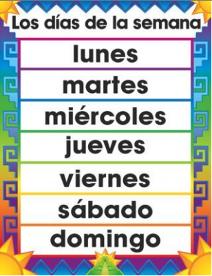 Los Dias De La Semana (Days Of The Week)