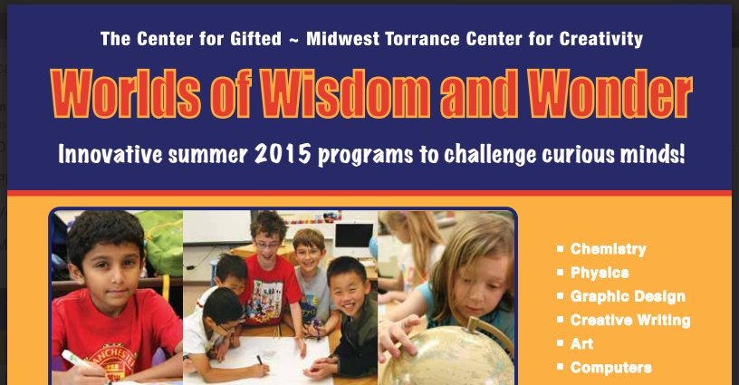 Center For Gifted Summer Program