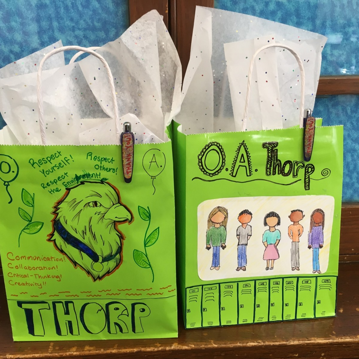 Thorp Goodie Bags Created By Our Students.